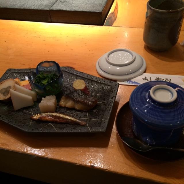 よし寿司 浦和店 - デリシャスランチの前菜。