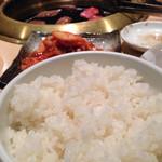 焼肉 韓国料理 八幸苑 - ご飯。
