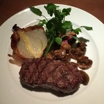 ひまわり食堂 - 牛肉のサーロインの炭火焼
