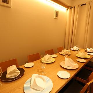 個室完備。大切な方のお祝い事におすすめのイタリアンレストラン