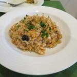 フオーコディブラーチェ - 料理写真:タコのラグートマトソースのリゾット。
