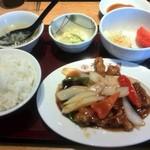 大阪王将 - 酢豚定食