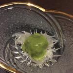 旬味 やま修 - ドロ目、葉ニンニクの酢味噌和え
