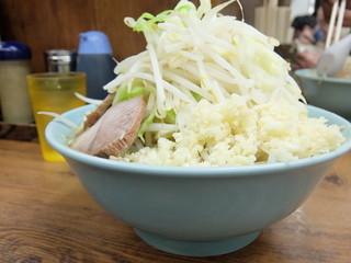 ラーメン二郎 池袋東口店 - ラーメン+ヤサイマシマシニンニクマシマシ
