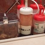 松乃家 - 松屋っぽいソースの入れ物