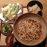 48529621 - 季節野菜の天ぷらうどん①