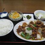 美味楼 - 酢豚定食 750円