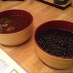 回転寿司 魚河岸 - アサリ・海苔のお味噌汁