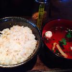 ぶん - セットの十穀米ごはんと吸物