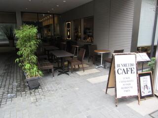 文明堂カフェ - 店頭入口