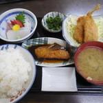 女良食堂 - お魚定食 ¥1050-