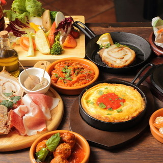 【種類豊富な飲み放題】と【美味しいイタリア宴会料理!】