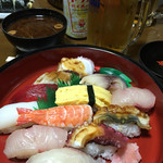 寿し政 - 料理写真:今日は久々の回らないお寿司!オカン、ご馳走さん!*\(^o^)/*