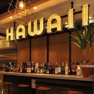 横浜散策の後はゆっくりカフェとして、夜はハワイ料理で女子会