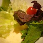 4855831 - 野菜サラダ、人参すりおろしドレッシング