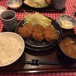ドルチェ/かつ富 - 【料理】白馬無菌豚の上ヒレカツ定食