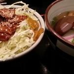 里のうどん - バラ丼セット(バラ丼とたぬきorきつねうづんの小)