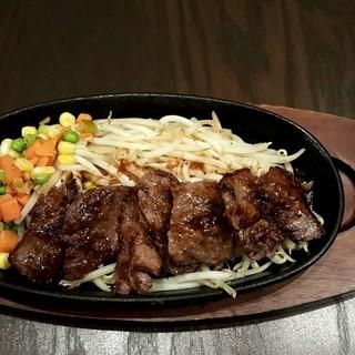 旨味ぎっしり、あっつあつの国産和牛ハラミカットステーキ☆