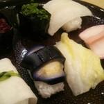京漬物味わい処 西利 - 京漬物寿司天心1296円