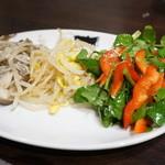 焼肉グレート - 手作りナムルの三種盛