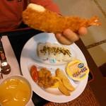 レストラン 四季の恵 - サッカー少年セット、、エビフライアップ(笑)