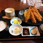 レストラン 四季の恵 - エビフライ定食
