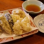 一番寿司 - 牡蠣と白子の天ぷら