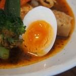 らっきょ - 知床鶏野菜スープカレー(玉子)