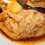 らっきょ - 知床鶏野菜スープカレー(知床鶏)