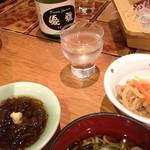 ドリーム ジャーニー 優雅 - 料理写真:生貯蔵酒「優雅」/酢の物/椀物/前菜