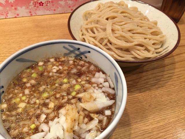 江戸前つけ麺 サスケ - 江戸前つけ麺 中盛  玉ねぎ増し