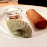 翠林 - 薬膳火鍋ディナー 点心二種