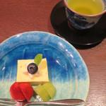 馳走 かく田 - <2016年3月>水菓子:安納芋のムース