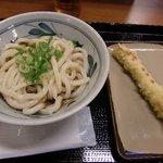香の川製麺 - ぶっかけうどん、ちくわの天ぷら