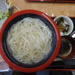 桂 - 料理写真:伊豆生一本うどん(釜揚げ) 700円