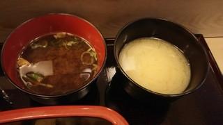 赤坂 鮨兆 - ランチ:味噌汁(白だし、赤だし)