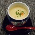 ふく・長州料理 KATSUMOTO - とらふくの白子茶碗蒸し 2016.2