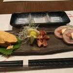 鶏三和 菊井町本店 - 前菜三種盛り