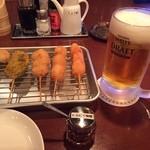 焼き鳥酒場 団 - 串揚げ5種盛り
