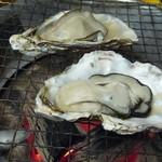 蕎麦処 空庵 - 冬の名物、日生の焼き牡蠣