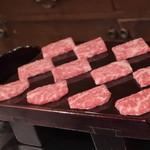 48581926 - 5枚の肉をミルフィーユにしてある