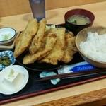 福徳食堂 - チキンカツ定食(900円)+ご飯大盛(110円)です。