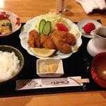 割烹ゐの上 - カキフライ定食@1,944円