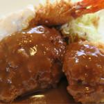 洋食よだれ道 - 料理写真:Bセットは、コロッケとミンチカツ