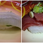 元禄寿司 - エンガワと中落ち♪