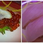 元禄寿司 - 筋子とまぐろです♪