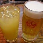 ちむどんどん - オリオンビールとシークワーサージュース