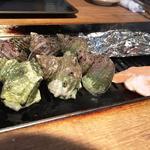 浜焼き しんちゃん - とりあえず貝三種盛り