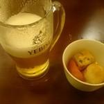 48597710 - 生ビール、お通し