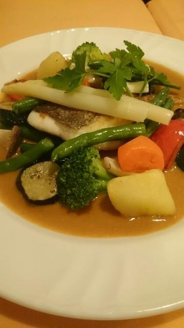 ヨシムタ - 真鯛のグリル、ウニソース